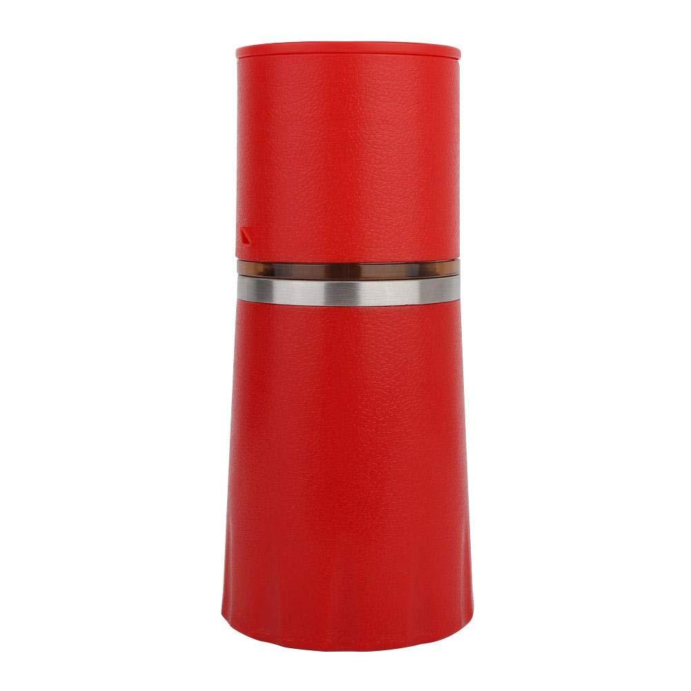 Mini Coffee Machine Manual Coffee Maker Portable Home Pressure Espresso Coffee Maker(Red) by Bicaquu