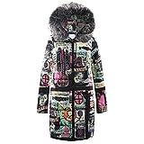 Jiayit Fur Hooded Coats Down for Women, Womens Winter Warm Long Down Parka Hooded Coat