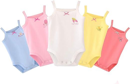 Unisex-Jumpsuit f/ür Baby /Ärmellos 4er Pack Strick-Body f/ür Kleinkinder Baumwolle Babybody
