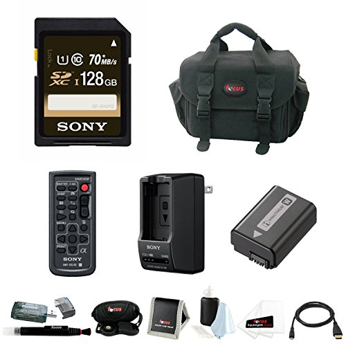 Sony Alpha ILCE7 Series Deluxe Accessory Bundle with 128GB SDXC Card