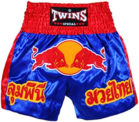 Amazon.com: Twins Red Bull Muay Thai Kick Boxing Shorts/-RED (M): Sports & Outdoors