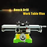 Milling Working Table 350×100MM Bench Vise Multifunction Worktable Milling Machine Compound Drilling Slide Table For DIY Bench Drill (6350 SIZE)