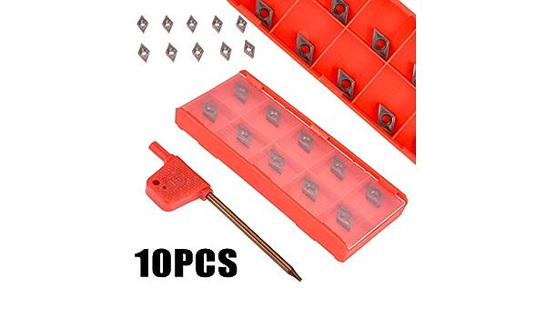 4x12mm Lathe Boring Bar Turning Holder Tool 10pcs DCMT0702 Carbide Inserts*#