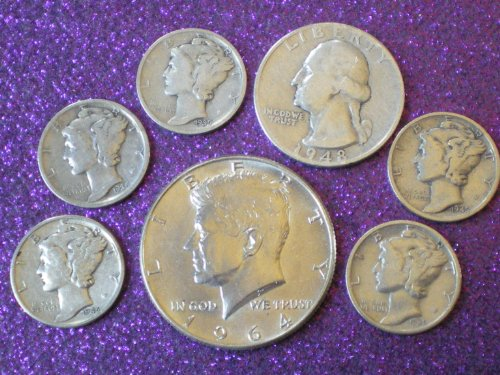 90% Silver Coin Lot 1964 Kennedy Half Dollar, - Quarter Of Dollar