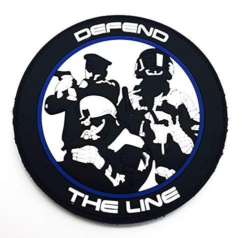 Polizeimemesshop Thin Blue Line Spartiat PVC Patch