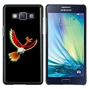 TECHCASE---Cubierta de la caja de protección para la piel dura ** Samsung Galaxy A5 ( A5000 ) 2014 Version ** --Pájaro Rojo Místico