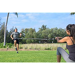 Victorem Strength 80 Lb Resistance Running Training Bungee Band (Waist) – 8 Ft - 360° Agility, Strength & Speed Fitness for Fast-Twitch Athletes – Gym Equipment for Football, Basketball, CrossFit