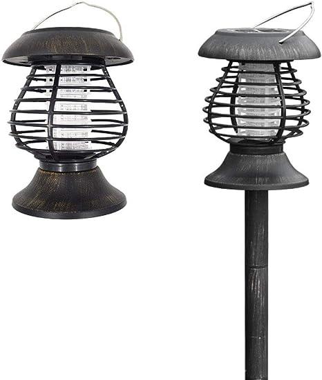 Repelente de mosquitos Al aire libre Bobina de mosquitos eléctrica Impacto Células solares Jardín Control de insectos Control de insectos eléctrico Mosca asesina Luz solar nocturna al aire libre: Amazon.es: Deportes y