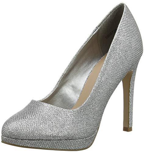 Reign New Silver Chiusa Donna Tacco Punta Scarpe 92 col Silver Look Pgwr65gqxO