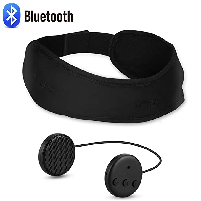AGPTEK Auriculares de Diadema Bluetooth, Auriculares de Dormir ...