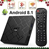 Android 8.1 TV Box with 4GB RAM 32GB ROM, Livebox HK1 max RK3328 Quad Core 64 bit Built in BT 4.1 Dual-WiFi 2.4GHz/5GHz,Supporting 4K (60Hz) Full HD/3D/H.265,USB 3.0[2018 Version]
