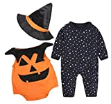 Baby Halloween 3PCS Outfit Pumpkin Costume Kids Cosplay Party Clothes Size 12-18 Months/Tag90 (Black)