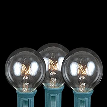 Amazon novelty lights 25 pack g40 outdoor globe replacement novelty lights 25 pack g40 outdoor globe replacement bulbs clear c7e12 candelabra mozeypictures Choice Image