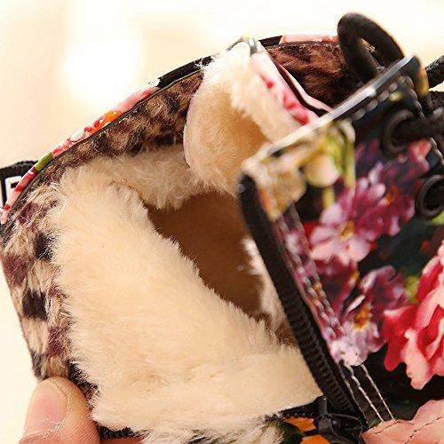 OverDose Baby Mädchen Kinder Mode Blumen Schuhe Martin Stiefel Casual  Kinder Stiefel Mädchen Schuhe (20 ... d08d11237c