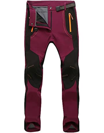 YiLianDa Homme Softshell Doublé Polaire Coupe-Vent Imperméable Outdoor  Sport Pantalon Escalade Camping Randonnée Trekking 99c51aeb455