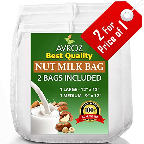 My-Best-Nut-Milk-Bag-2-Pack-Large-12x12-Medium-12x9-Strong-Reusable-Almond-Milk-Bags-Commercial-Food-Grade-Fine-Nylon-Mesh-Food-Strainer-Cheese-Maker-Coffee-Tea-Filter