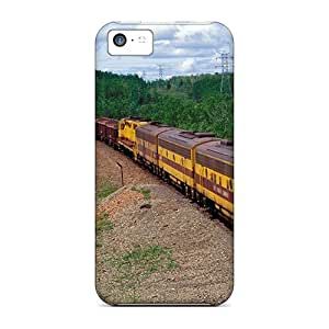 Fashion Tpu Case For Iphone 5c- Cargo Train Defender Case Cover