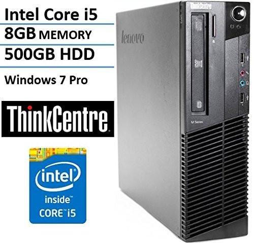 Lenovo ThinkCentre M92p Business Desktop Tower PC (Intel Core i5-3470, 3.2Ghz CPU, 8GB RAM, 500GB HDD, WIFI, DVD-RW, USB 3.0) Windows 7 Pro – 32 Bit (Certified Refurbished)