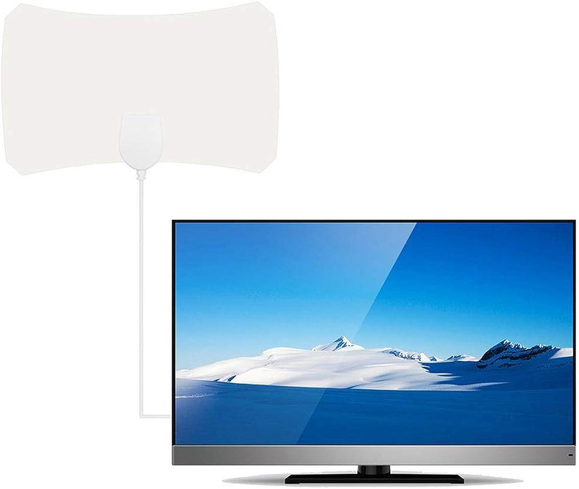 Antena de televisión por satélite de Mini Antena de Canal de televisión webla HD Digital Antena de TV Digital HD HD Skylink 4 K Antena Digital Interior HDTV 1080P 120 Mile: Amazon.es: