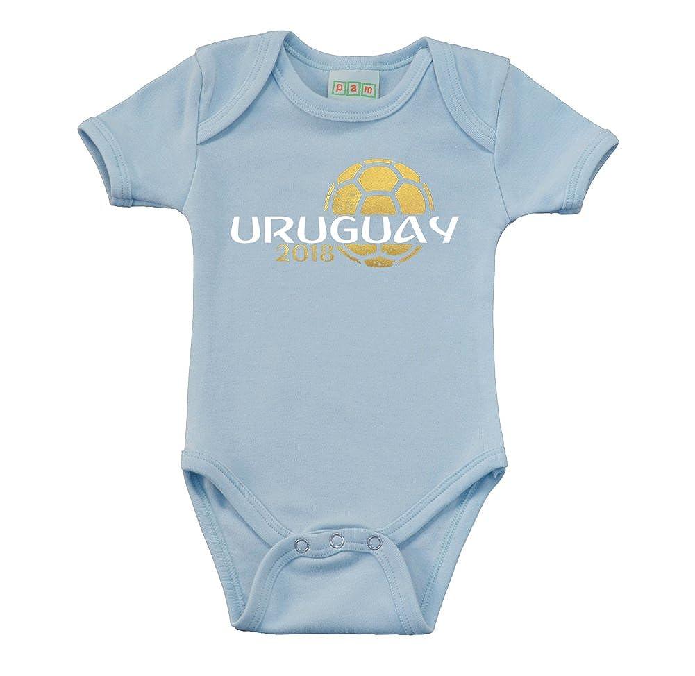 Pam GM Uruguay Baby Boys Soccer Bodysuit 2018 3513-URU2018