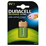 Duracell Rechargeable 9 V Battery - Black