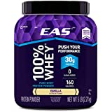 EAS 100% Pure Whey Protein Powder, Vanilla, 5 LB, 30 Grams of Whey Protein Per Serving (Packaging May Vary)