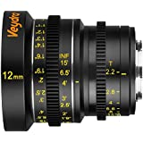 Veydra V1-12T22M43I, Mini Prime 12 mm T2.2 Imperial Cinema Lens with Manual Focus, Black