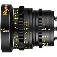 Veydra V1-12T22M43I, Mini Prime 12 mm T2.2 Imperial Cinema Lens with Manual Focus, Black