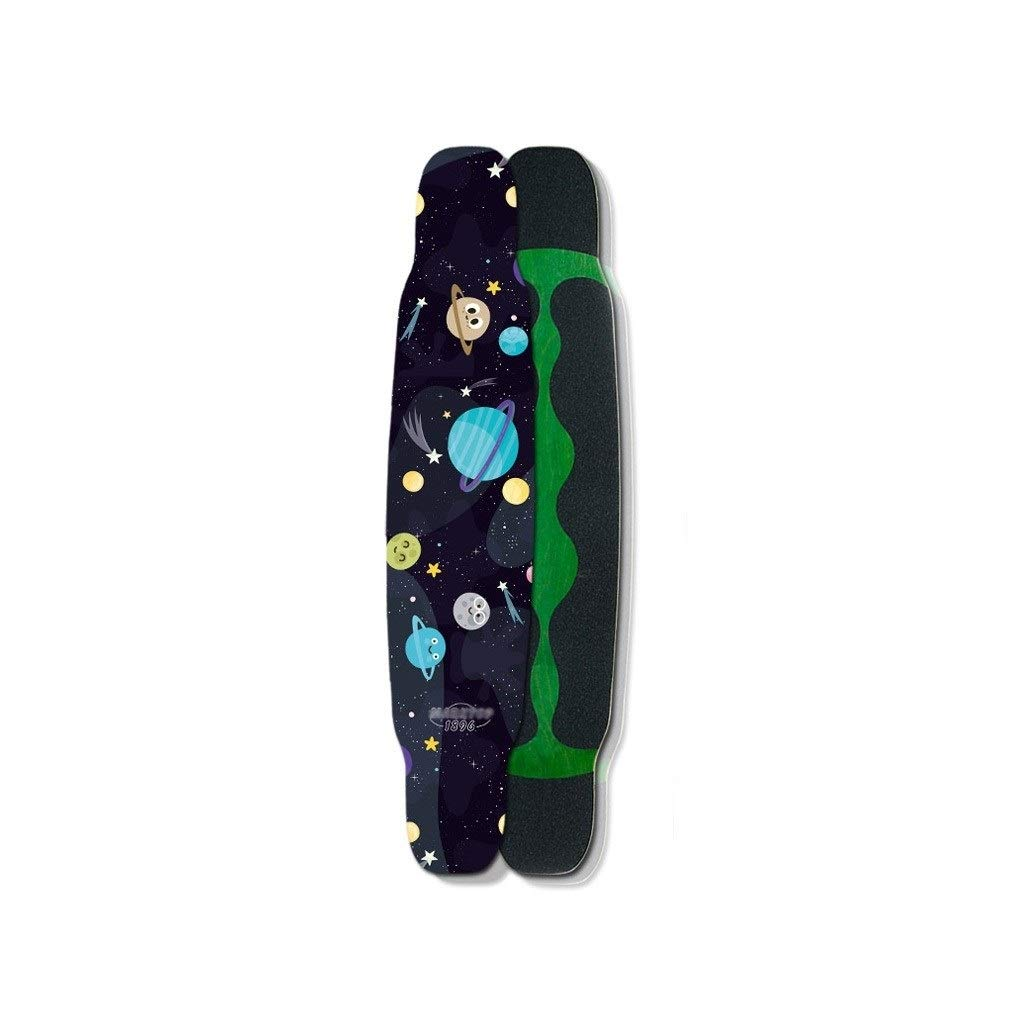 HXGL-スケートボード プロスケートボードコンプリートボードブラシストリートダンスボード四輪スケートボード大人用ギフト - Small Universe(黒) ブラック