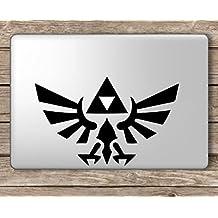 Legend of Zelda Logo - Apple Macbook Laptop Vinyl Sticker Decal, Die cut vinyl decal for windows, cars, trucks, tool boxes, laptops, MacBook - virtually any hard, smooth surface