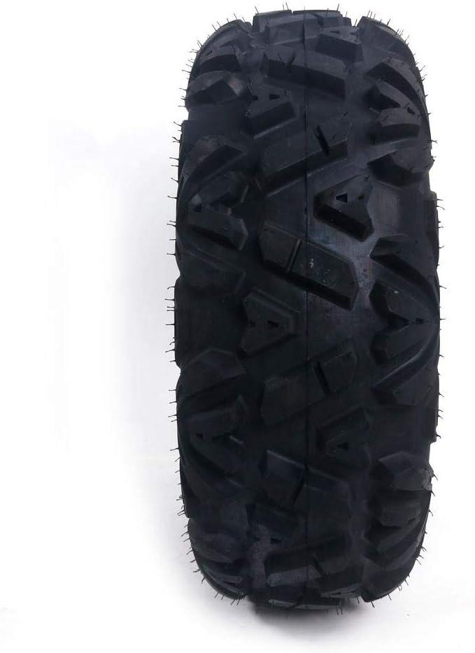 PARTS-DIYER 4 PCS All Terrain ATV UTV Tires 25x8-12 Front /& 25x10-12 Rear Tubeless 6PR