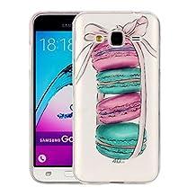 For cellphone Cases, For Samsung Galaxy J3 (2016) / J310 Macarons Pattern IMD Workmanship Soft TPU Protective Case ( SKU : SAS0139A )