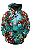 Haloon Unisex Realistic 3d Digital Big Pocket Pullover Hooded Hoodies...