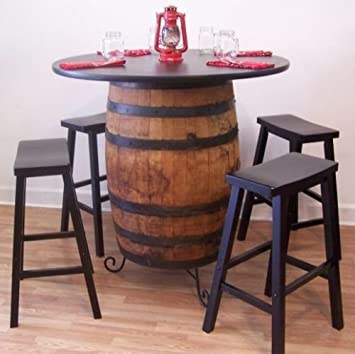 White Oak Whiskey Barrel Table Cstand 36 Table Top 4 29 Bar