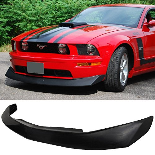 05-09 Ford Mustang V6 2 Door CV Style Add-On Front Bumper Lip Poly Urethane