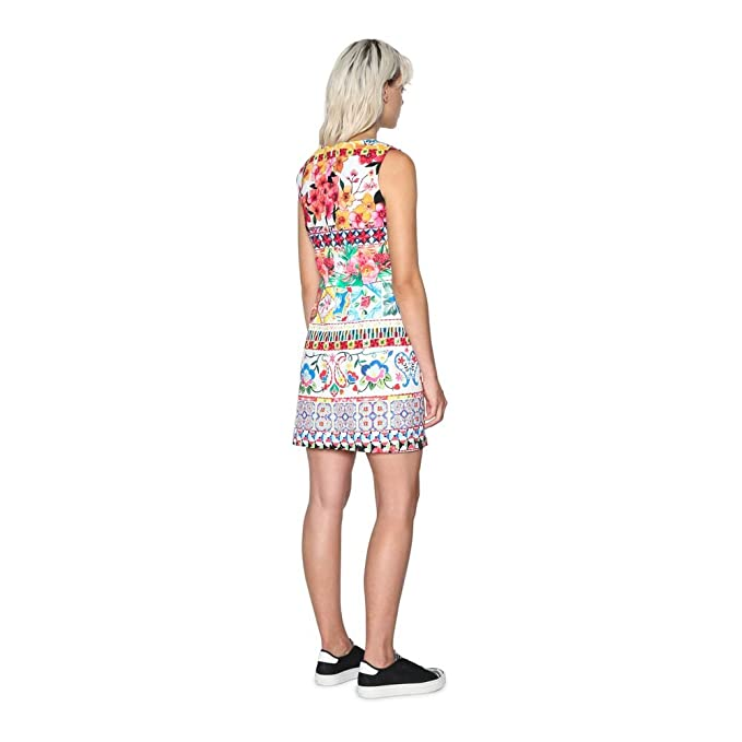 5f18b6bd3581 Desigual Dress Angelina 18SWVW51 (Multi Prints) at Amazon Women s Clothing  store