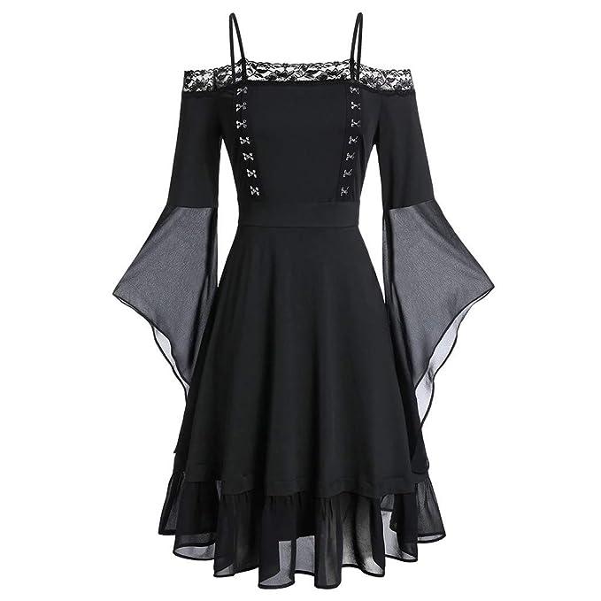 para Mujer Vestido Vintage Informal de Mujer Calabaza Fantasma ...
