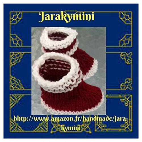 tout neuf 4b214 35a43 Chaussons bébés bottes de pluie laine fait-main, Made-in ...