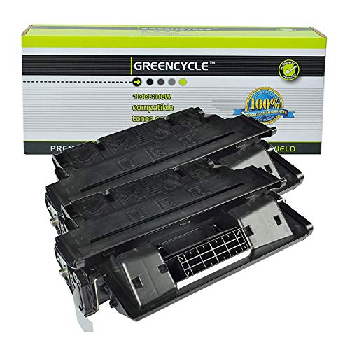 GREENCYCLE High Yield Compatible C8061A Toner Cartridge Replacement for HP 61A Laserjet 4100 4100MFP 4100dtn 4100n 4100tn 4101MFP Series Printer (Black, 2 Pack) ()