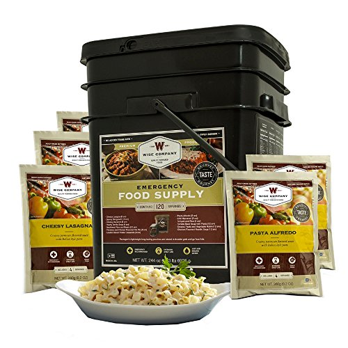 Wise Company 120 Serving Entree Only Grab and Go Kit, 15' L x 12' W x 10' H, 20 lb.