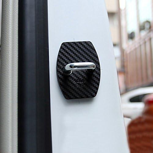 Para Astra K 2016-2019 Cubierta protectora de pl/ástico para cerradura de puerta Negro 4 piezas HIGH FLYING