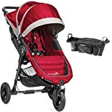 Baby Jogger - City Mini GT Single Stroller with Parent Console - Crimson Gray