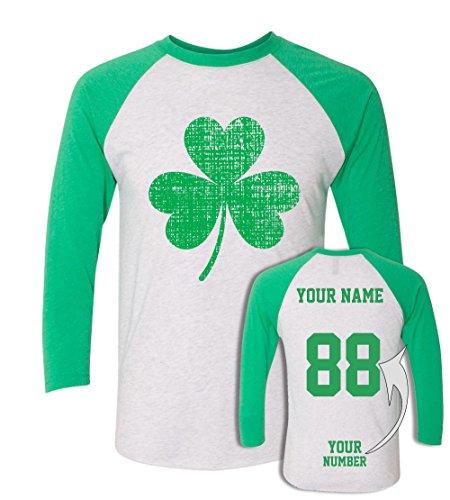 Custom Jerseys St Patrick's Day T Shirts ☘ Saint Pattys Baseball Raglans Irish Outfits