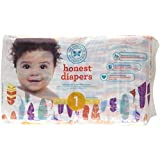 The Honest Company Disposable Baby Diapers, Painted Feathers, Size 1, 44 ct