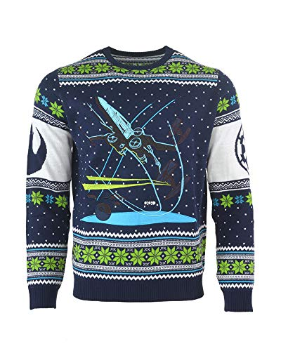 Star Wars Ugly Christmas Sweater X-Wing Battle of Yavin Knitted for Men Women Boys and Girls