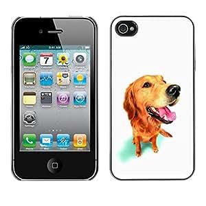 Be Good Phone Accessory // Dura Cáscara cubierta Protectora Caso Carcasa Funda de Protección para Apple Iphone 4 / 4S // Golden Labrador Retriever Dog Muzzle