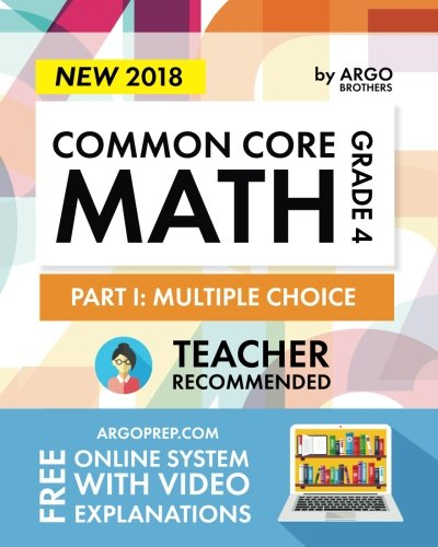 Common Core Math Workbook, Grade 4: Multiple Choice, Daily Math Practice Grade 4 cover