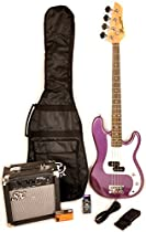 Ursa 1 JR RN PK MPP Purple 3/4 Size Bass Guitar Package w/Amp and On Line Video Instruction