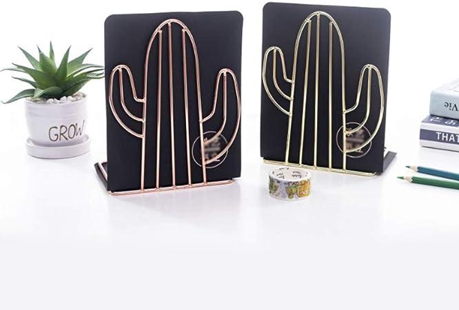 aus Metall - Exing-7HH801769 B/ücher-Organizer kreativ Exing Buchst/ützen in Kaktus-Form Gold Gold