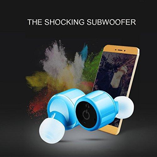 Auriculares Bluetooth, Bodecin TWS Gemelos Auriculares Inalámbricos Bluetooth Mini Invisible V4.1 Sonido Envolvente Estéreo En El Oído Auricular Con ...